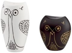 kate spade new york Salt and Pepper Shakers, Woodland Park Owl Full of personality, owl salt and pepper shakers are a fun surprise for any table from kate spade new york. Featuring a black and white glaze with whimsical gold detail. City Zoo, Woodland Park, Salt And Pepper Set, Kate Spade, Hand Painted, Stuffed Peppers, Owls, Earthenware, Shower Favors
