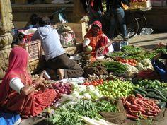 Vegetable market, Jaiselmer, Rajasthan