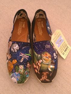 Awesome! STAR WARS TOMS New Shoes Included Made to by eastbaycalifornia