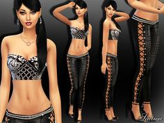 The Sims Resource: Goddess Diva Outfit by Saliwa • Sims 4 Downloads