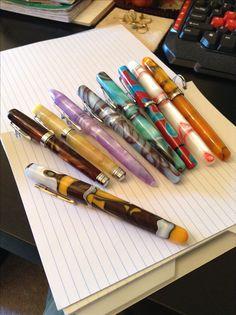 An abundance of acrylic fountain pens!