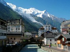 Mont Blanc from Chamonix, France -- fave city everrrr Turin, Bergen, Chamonix Mont Blanc, Visit France, Rhone, Beautiful Places To Visit, Mexico Travel, Winter Travel, Vacation Spots