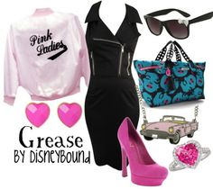Grease by Disneybound What do you think Pam? Disneybound Outfits, Disney Outfits, Cute Outfits, Disney Fashion, Disney Clothes, Disney Dresses, Grease Outfits, Pink Ladies Grease, Movie Inspired Outfits