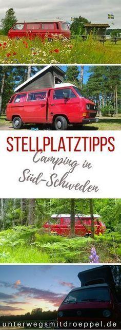 Camping in Südschweden: Auf unseren #Reisen mit dem #Bulli durch #Schweden haben wir den einen oder anderen #Campingplatz und #Stellplatz ausprobiert. Unsere ganz persönlichen #Stellplatztipps. #camping #roadtrip #wildcamping Travel Trailer Camping, Kayak Camping, Camping Hacks, Outdoor Camping, Outdoor Travel, Camping Ideas, Camping Packing, Camping Gadgets, Parenting
