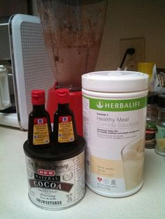 Almond Joy Herbalife® shake:  2 scoops Herbalife shake mix 1 cup of ice 1 tsp coconut extract ¼ tsp almond extract  2 eggs 2 tblsp cocoa  Approximately 230 calories  #Herbalife #HealthyLiving