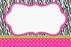 Zebra and pink: free printable invitations. Safari Invitations, Free Printable Invitations, Printable Labels, Free Printables, Printable Party, Zebra Rosa, Pink Zebra, Green Zebra, Zebra Print Party