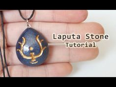 DIY Laputa Stone Necklace from Castle in the Sky Polymer Clay Tutorial - YouTube