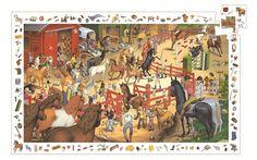 Djeco Puzzle Obserwacyjne Konie 200 Elementów