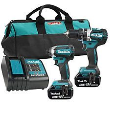 The Makita Hammer Driver Drill and Impact Driver Combo Kit with brushless technology provides two tools offering more power for your projects and more work per full charge, which prolongs the battery lifespan. Cordless Power Drill, Speed Drills, Milwaukee Tools, Tool Belt, Work Tools, Impact Driver, Drill Driver, Makita, Tools And Equipment