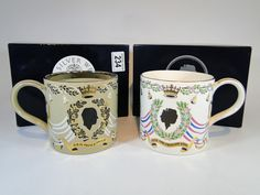234) Two Wedgwood Royalty commemorative pint tankards – new in box Est. £10-£20