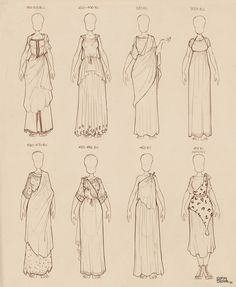 Ancient Greek Dresses Vol 2 by Ninidu on DeviantArt Ancient Greek Dress, Ancient Greek Clothing, Ancient Greek Costumes, Ancient Greek Art, Ancient Greek Theatre, Clothes Draw, Drawing Clothes, Historical Costume, Historical Clothing