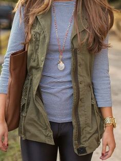 #street #style / military green jacket