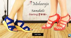 Buy Fashion #Sandals‬ #Online‬ at Low Prices in India. Select your favorite pair from branded sandals online on MyShopBazzar.com