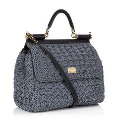 Dolce & Gabbana Miss Sicily Classic Crochet Bag Grey | Harrods