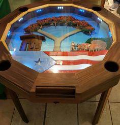 Dominoes table via mi puerto rico verde navidad boricua for Puerto rico juego de mesa
