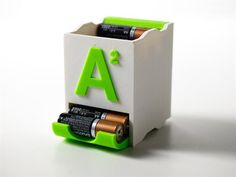 These cool & stylish 3D printed stackable battery holders are perfect for any home and workshop