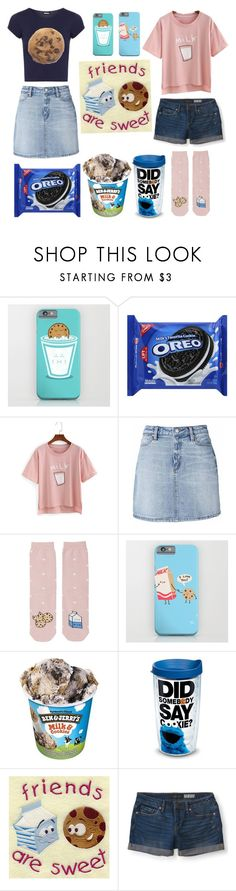 """BFFs: milk&cookies"" by browneyedbeautiful ❤ liked on Polyvore featuring Tervis, Aéropostale and WearAll"