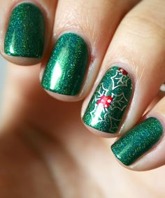 41 trendy Ideas for nails green sparkle nailart Thème de Coiffures 41 trendy Ideas for nails green sparkle nailart Christmas Nail Art Designs, Holiday Nail Art, Fancy Nails, Trendy Nails, Manicure Gel, Gel Manicures, Christmas Manicure, Super Nails, Winter Nails