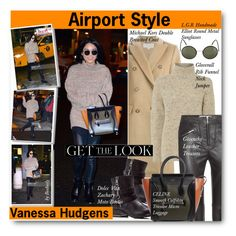 """Get the Look: Celebrity Winter Airport Style"" by beebeely-look ❤ liked on Polyvore featuring мода, MICHAEL Michael Kors, Dolce Vita, Gloverall, Givenchy, L.G.R, women's clothing, women, female и woman"