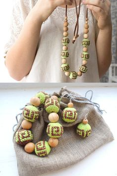 Hey, I found this really awesome Etsy listing at https://www.etsy.com/ru/listing/196319609/pistachio-brown-crochet-nursing-necklace