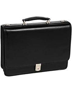 Mcklein I Series River North Leather Laptop Briefcase Black 43555 Laptop Briefcase, Briefcase For Men, Leather Briefcase, Napa Leather, Cowhide Leather, Black Leather, Laptop Screen Repair, Print Server, Laptop Storage