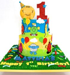 Happy Birthday by Celebrate with Cake Birthday Cakes For Men, Happy Birthday Parties, Happy Party, Happy 1st Birthdays, Man Birthday, Birthday Celebration, Birthday Ideas, Mr Men Little Miss, Kids Party Themes