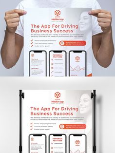 Postcard Design, Vector Format, Banner Template, Page Layout, Mobile Application, App Development, Signage, Templates, Digital