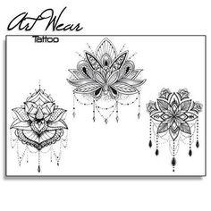 Tatoo lotus mandala dessins