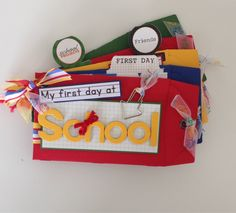 1st Day At School New Teacher New Class Mini Memory Book Custom Made Personalised - pinned by pin4etsy.com