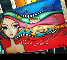 Romi Lerda Indian Art Paintings, Happy Paintings, Art Sketches, Art Drawings, Art Painting Gallery, Arte Pop, Art Journal Inspiration, Whimsical Art, Art Plastique