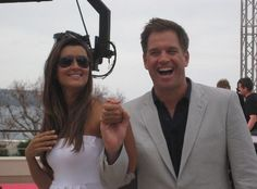 #Cote de Pablo and Michael Weatherly  Nice actor