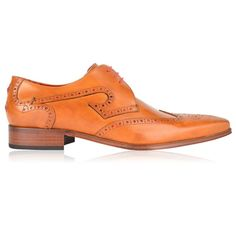JEFFERY WEST Gibson Wingtip Brogues (£185) ❤ liked on Polyvore featuring shoes, oxfords, leather oxfords, fleece-lined shoes, leather shoes, lace up oxfords and wing tip oxfords