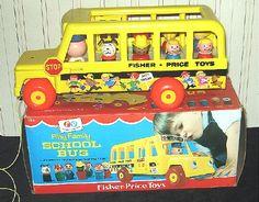 Vintage Fisher Price School Bus - Near Mint in Box
