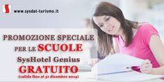 Promozione Scuole: Syshotel Genius Gratuito | offerta valida fino a dicembre 2014