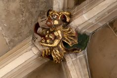 : Roof Boss NI13: Devil Tempting Jesus, Norwich Cathedral