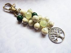 Hand made Mixed Jade Howlite Tree of life by Dianesgemjewellery