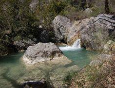 Waterfall, Gîte Entrepierres, Riou de Jabron, Alpes-de-Haute-Provence, France