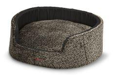 SNOOZA BUDDY PET BED - VELVET SAFARI ANIMAL PRINT