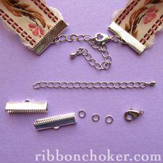 Ribbon choker tutorial by Art Fire artist, Rina Slayter.  #Beading #Jewelry #Tutorials