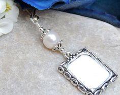 Wedding Bridal Bouquet Memory Photo Frame Charm by ChristinaBridal