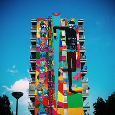 Rimon Guimaraes in Amsterdam, it's at least 10 stories tall