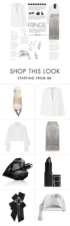 """""""Shimmy Shimmy: Fringe"""" by amimcqueen ❤ liked on Polyvore featuring Sergio Rossi, Amanda Wakeley, Edun, Rachel Zoe, Dolce&Gabbana, Diesel, NARS Cosmetics, Forever 21 and Loeffler Randall"""