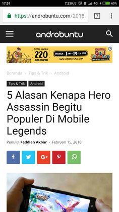 5 alasan kenapa hero assassin begitu populer di Mobile Legends. Baca selengkapnya di androbuntu.com.