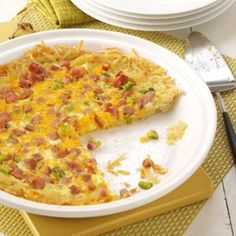 Hash Brown Quiche Recipe from Taste of Home
