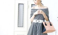 Black And White Striped Hooded Dress For You