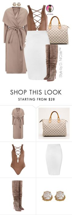 """""""Untitled #2843"""" by stylebydnicole ❤ liked on Polyvore featuring Louis Vuitton, Glamorous, Christian Louboutin and ABS by Allen Schwartz"""