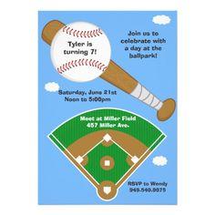 Baseball Birthday Party Invitation