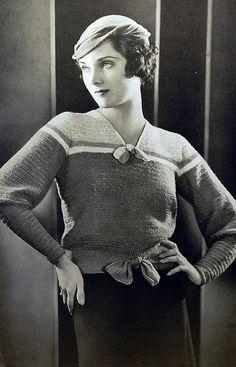 1930s knitwear