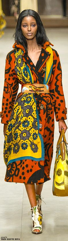 Africa inspired:Burberry Prorsum F/W 2014 - London Fashion Week