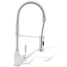 """Blanco """"Meridian"""" Pull-Out Spray Kitchen Faucet in chrome."""